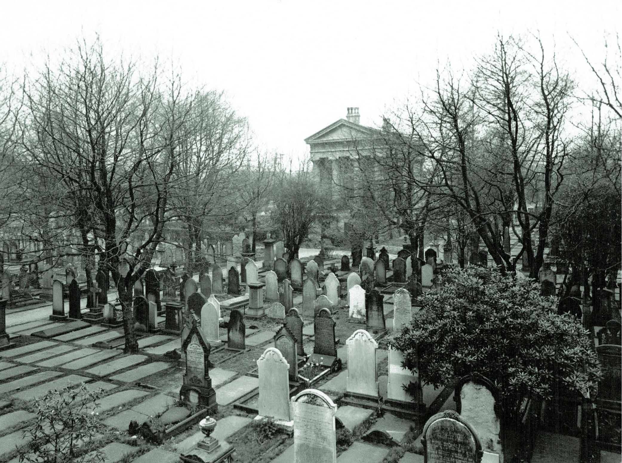 Key Hill cemetery chapel, mid-20th century (kindly donated to the project by Peter Vickers)